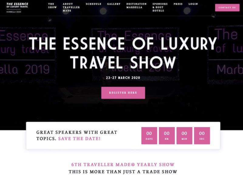 Edition virtuelle de Essence of Luxury 2020 par Traveller Made