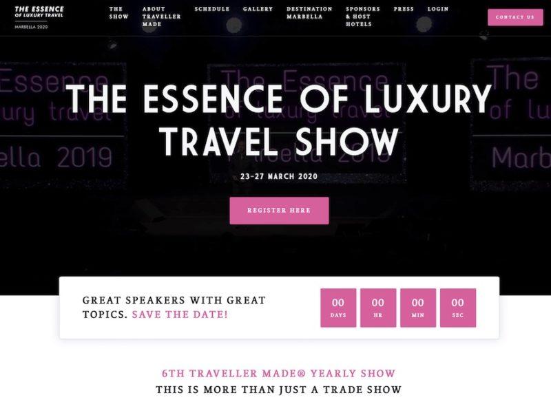 Edition virtuelle de Essence of Luxury 2020 par Traveller Made